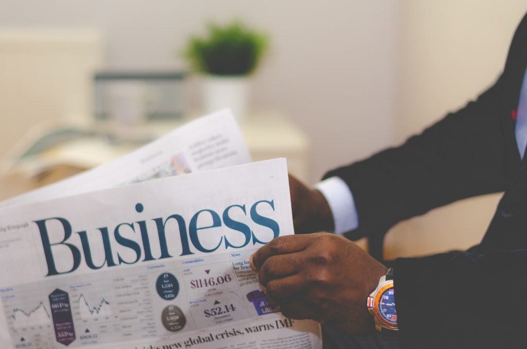 reading the business section