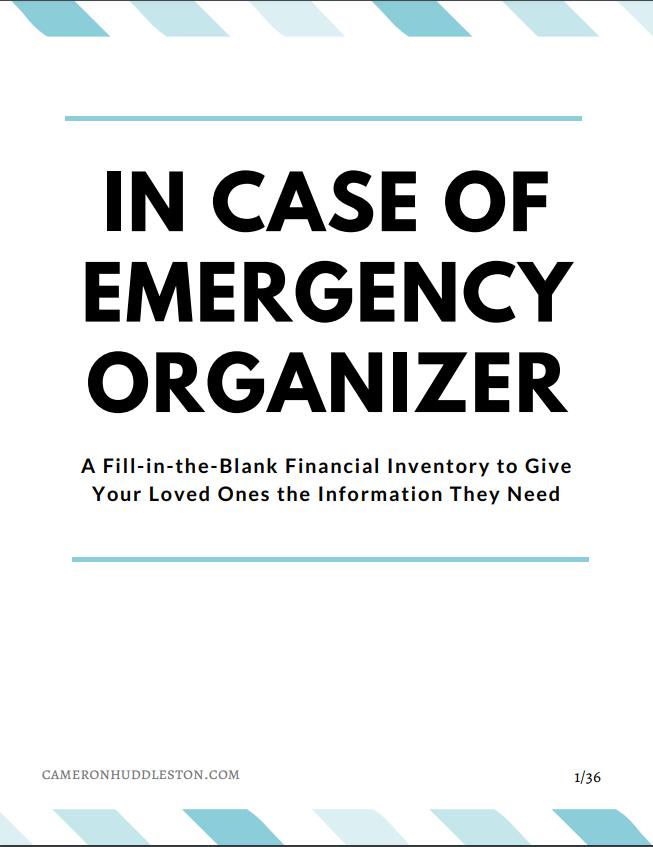 In Case of Emergency Organizer